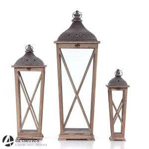 Stylowe Lampiony Drewniane I Metalowe Artseriespl