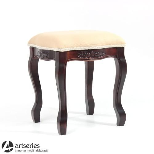 Tapicerowany Taboret Drewniany Krzesło Stylowe 50589 Artseries