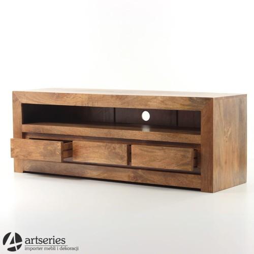 Groovy Komoda szafka pod telewizor rtv w stylu kolonialnym z drewna mango II62