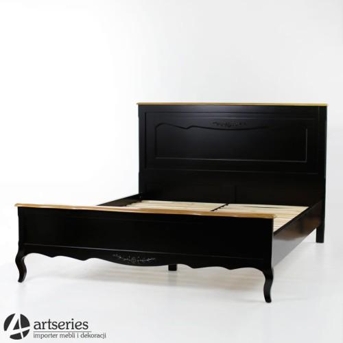 Czarne Prowansalskie łóżko Do Sypialni C120060