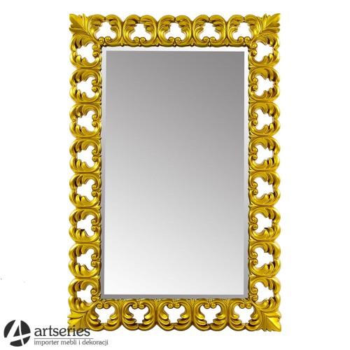 Niesamowite Wiszące, złote lustro w złotej ramie - antyczna linia - 123015 GQ93