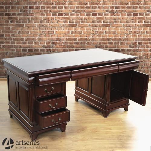Rewelacyjny Piękne dwustronne biurko do gabinetu 117090 w drewna mahoń - ArtSeries OE52