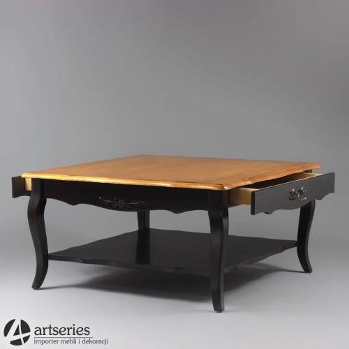 Stół Kawowy Kwadratowy Prowansalski Z Drewna C120020 Artseries