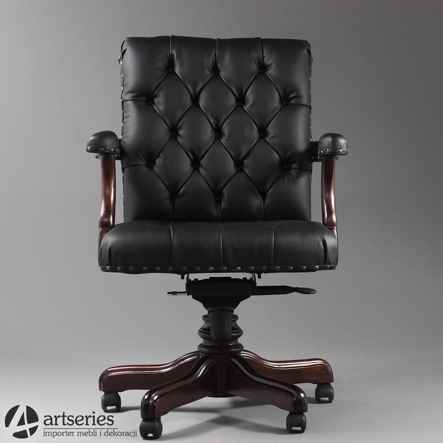 Elegancki Fotel Chesterfield 163018 Do Biura Dla Prezesa Premium Mark