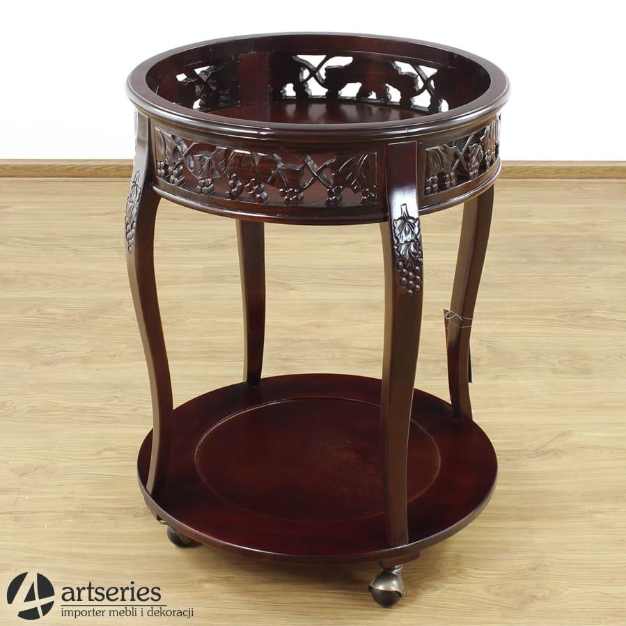 Wspaniały Stylowy barek okrągły 56878, stolik rzeźbiony na alkohole - ArtSeries MY12