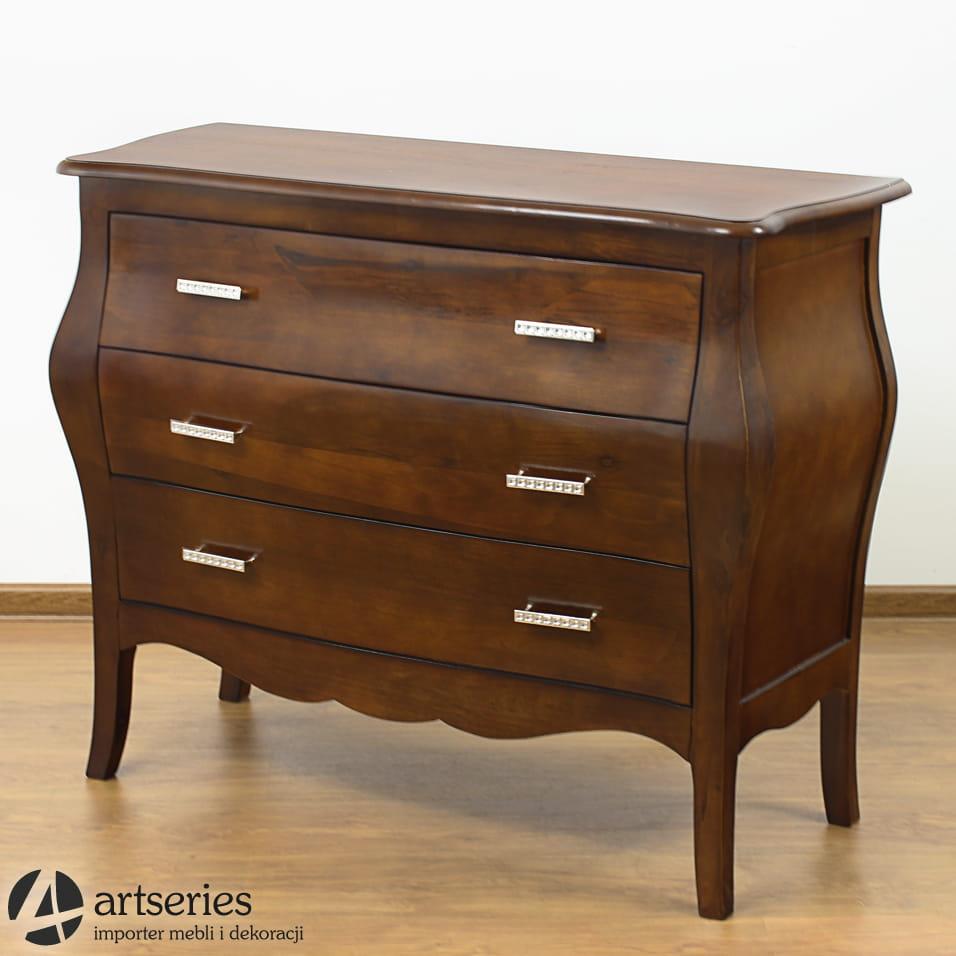 Bardzo dobra Stylowa komoda drewniana Kenny, szafka 119052 ciemny orzech LX09