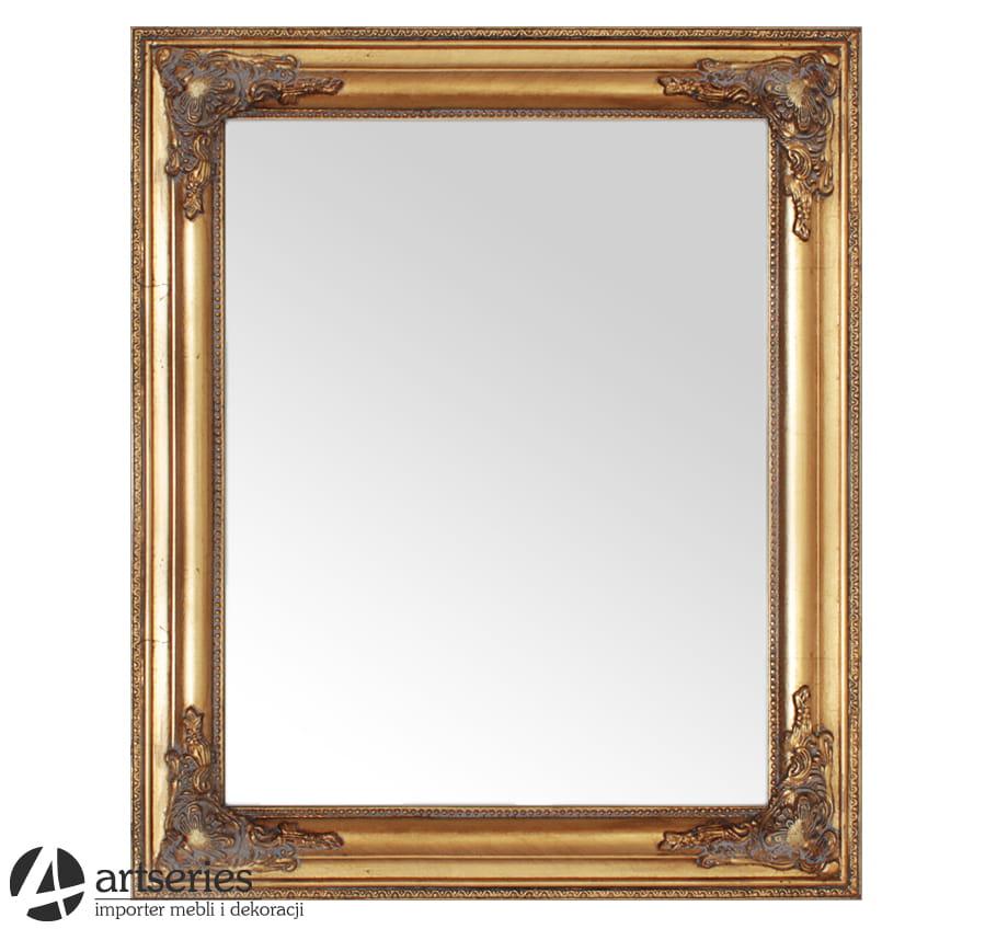 Niesamowite Antyczne złote lustro - stylowe lustra złote i srebrne - ArtSeries.pl MJ34