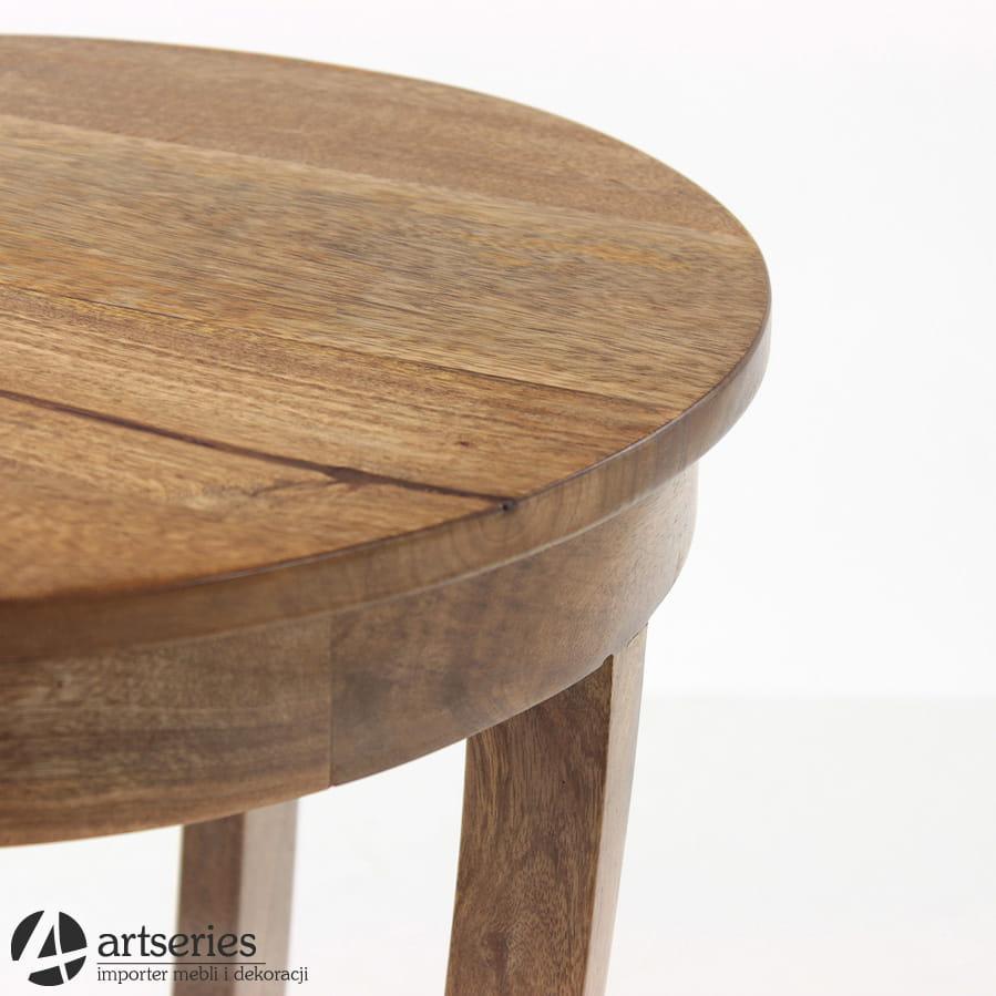 Popularne obiekty Okrągły stolik kawowy w stylu kolonialnym z drewna 96490 - Artseries #NJ-99